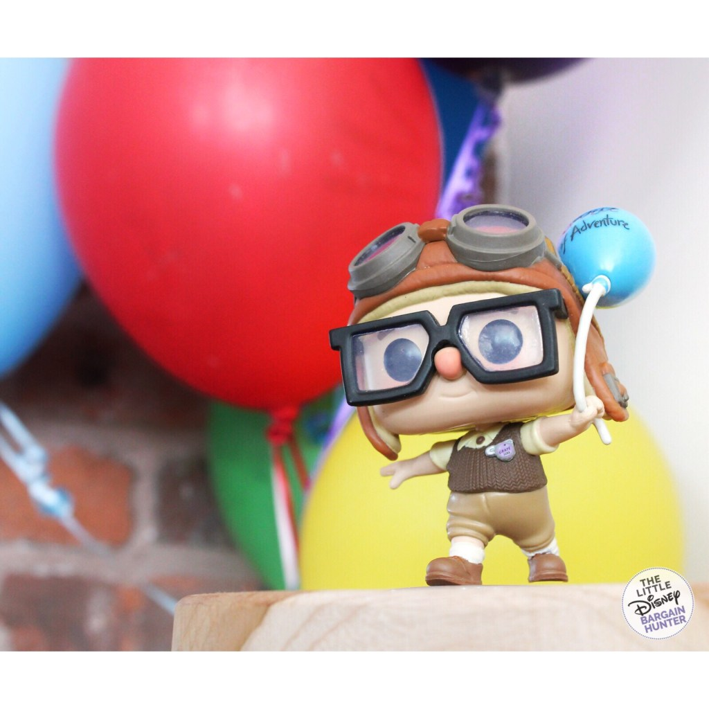 SDCC Carl and Ellie Funko carl with balloon background