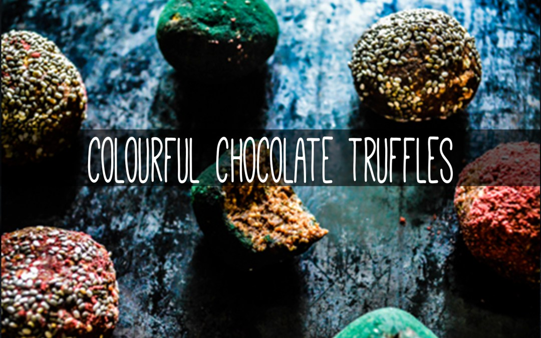 Colourful Chocolate Truffles