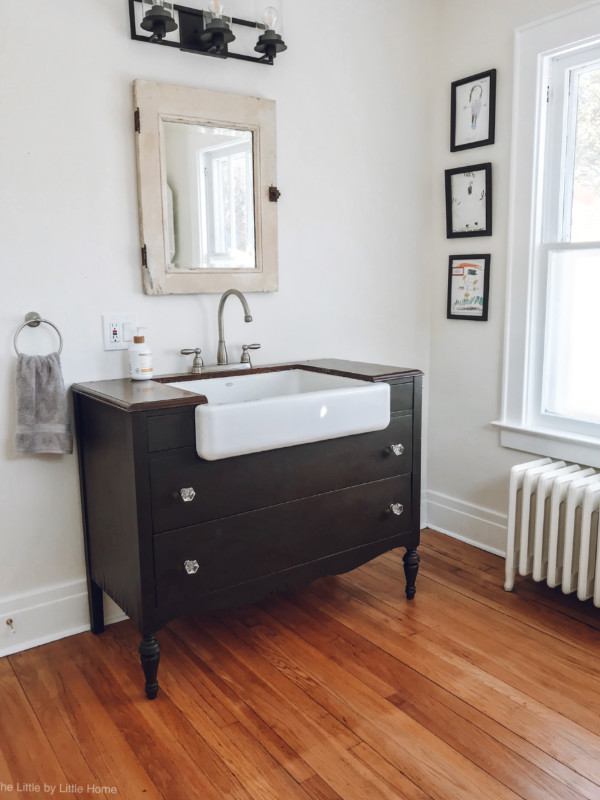 Our Half Bath and Laundry Room Makeover - The Little by