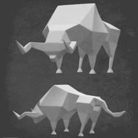 Metin Seven - Low-poly bull