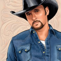 Michele Melcher - Illustration of Tim McGraw for Atlanta Magazine