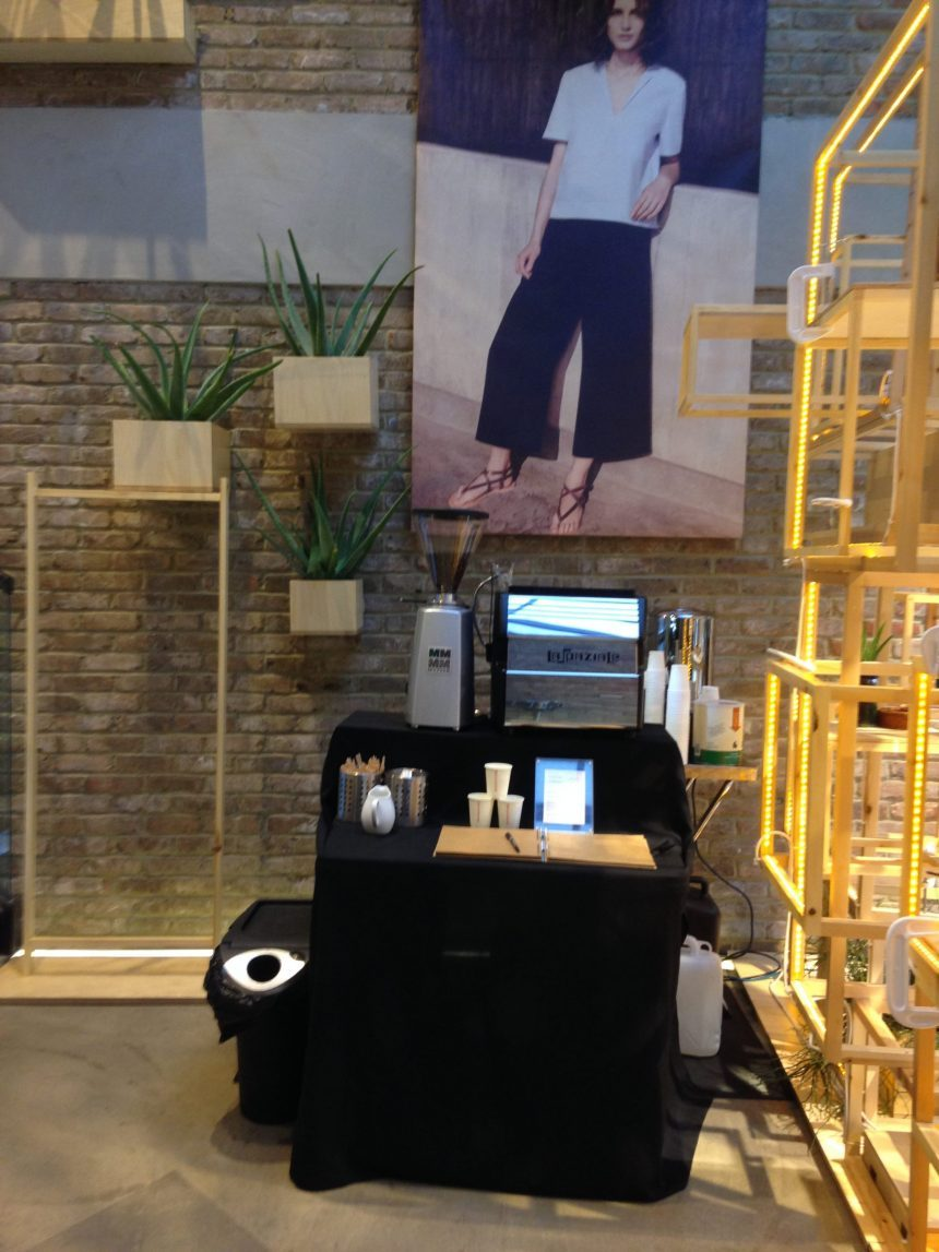 Pop-Up Coffee Stand Store Promotion