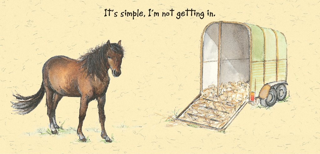 Chestnut Horse Greeting Card Horse Box The Little Dog