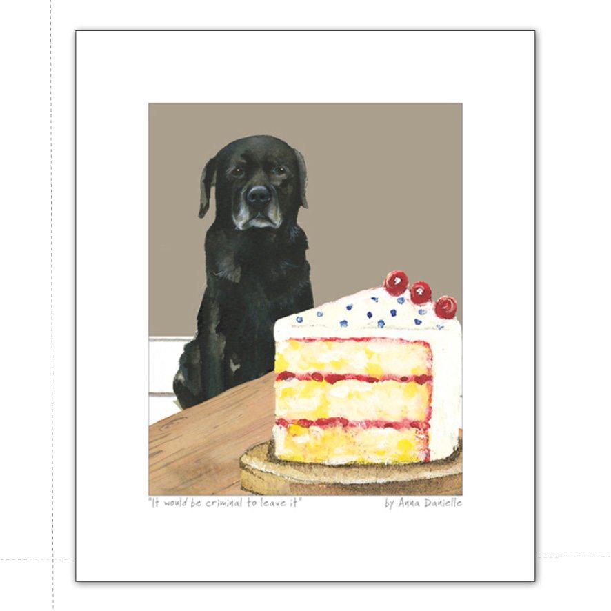 Black Labrador Art Print Criminal The Little Dog Laughed