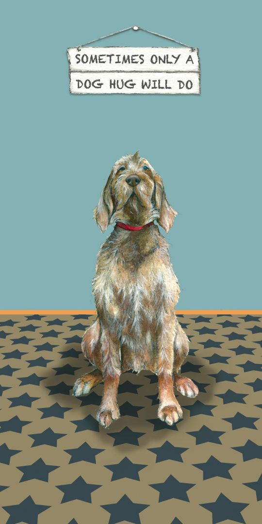 Hungarian Wirehaired Vizsla Dog Card Dog Hug The