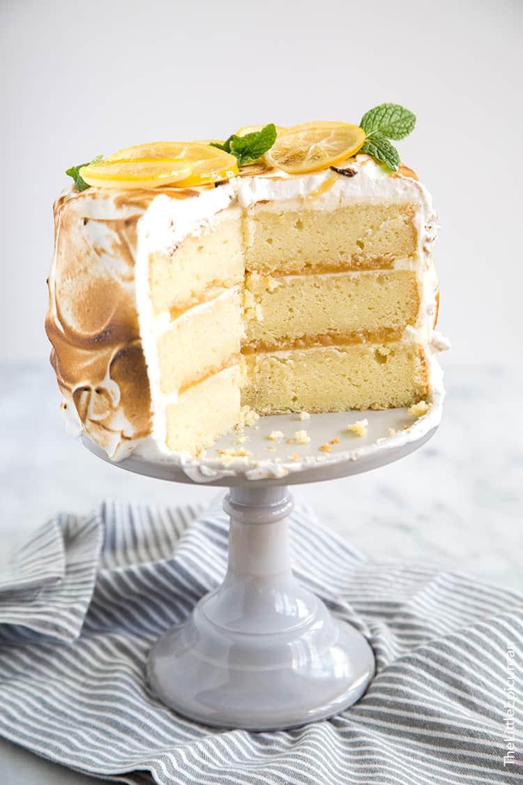 Lemon Meringue Cake The Little Epicurean