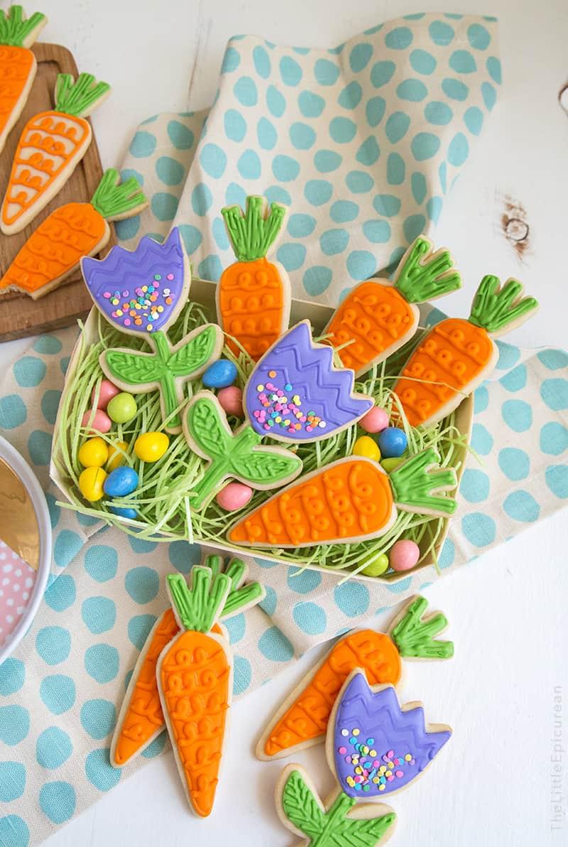 Spring Carrots Sugar Cookies The Little Epicurean