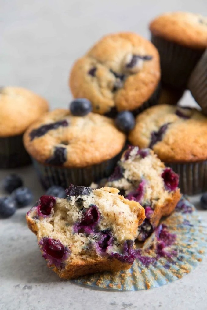 Banana Blueberry Muffins- The Little Epicurean