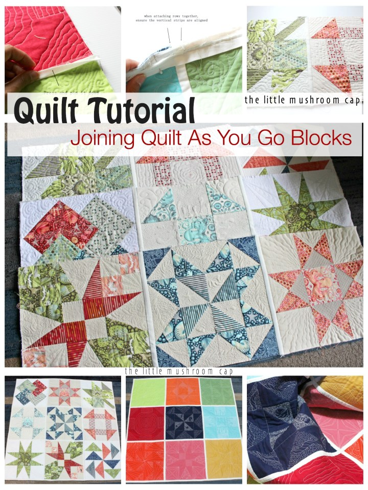 Joining Quilt As You Go Tutorial How to join quilt as you go block