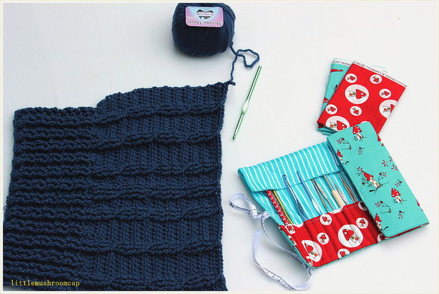 Sew Sew Modern Swap Received :: Super Tote Bag and Crochet Hook Roll ...