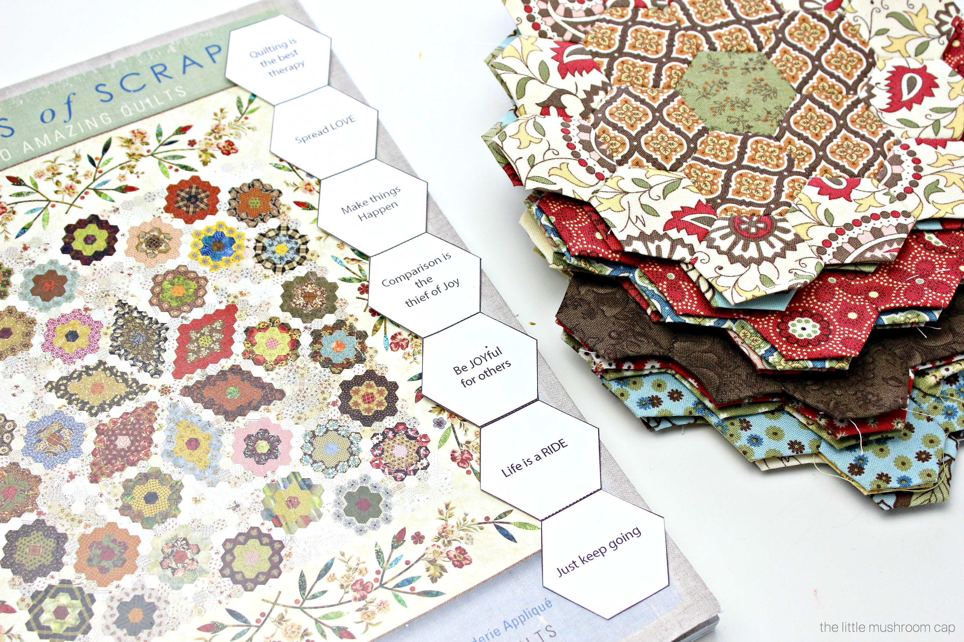 graphic about Quilt Templates Printable identified as Totally free Printable Hexagon English Paper Piecing Template - The