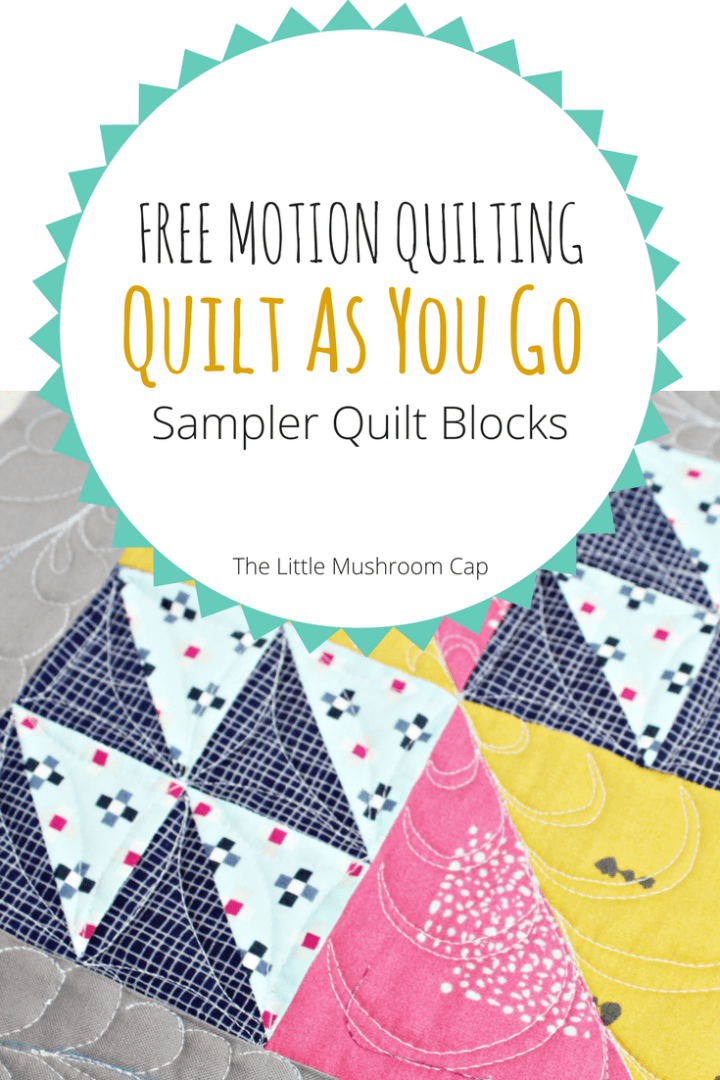 Free Motion Quilting Sampler Blocks sewcial bee sampler quilt