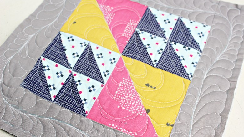 Free Motion Quilting on Block Flock | Sewcial Bee Sampler