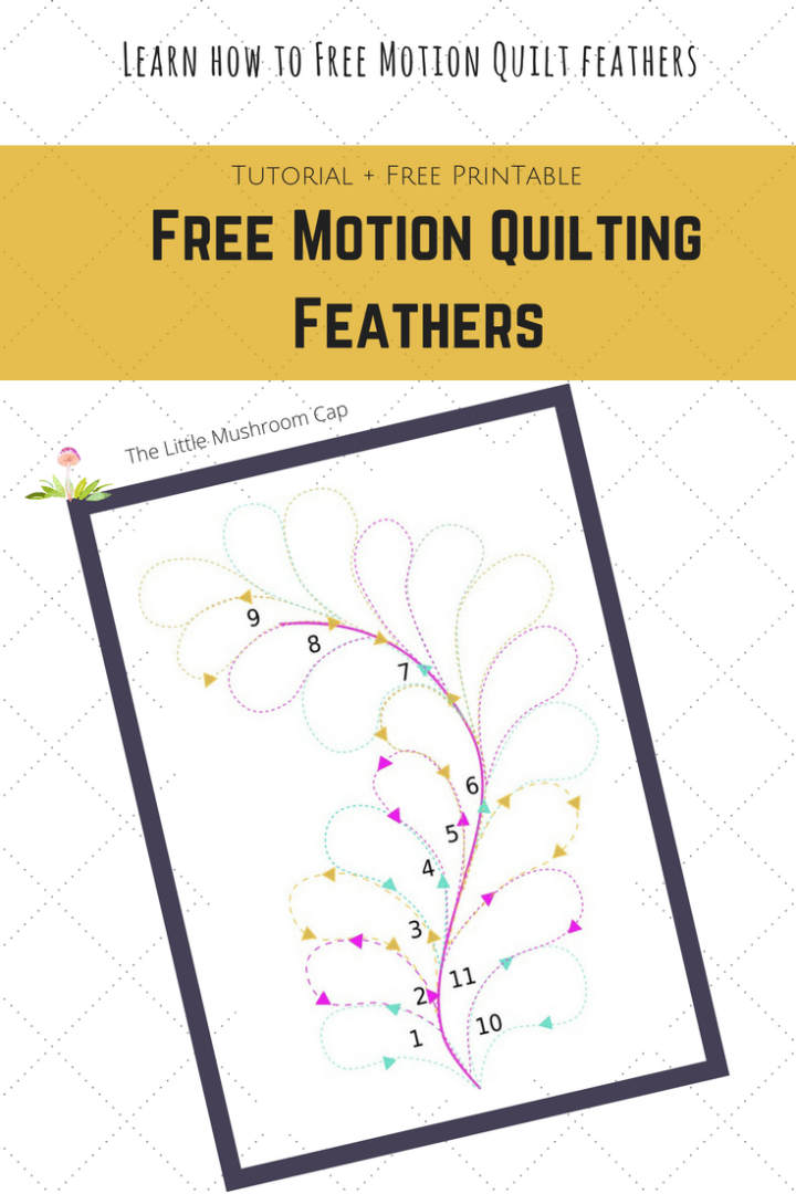 free motion templates feather quilting tutorial free printable template the
