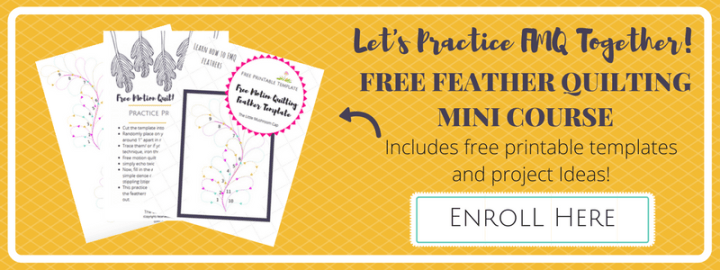 Let's Practice Together!Free FEATHER QUILTING MINI COURSE
