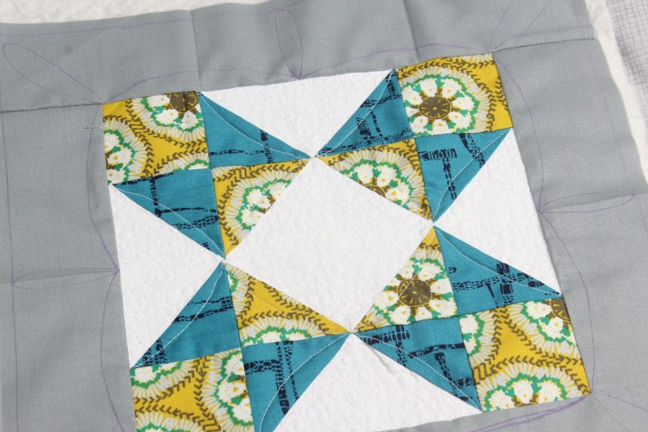 Marking quilt as you go block sewcial bee sampler 6