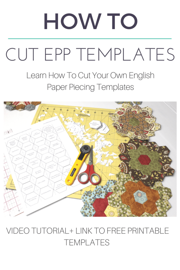 How To Cut English Paper Piecing Templates The Little Mushroom Cap