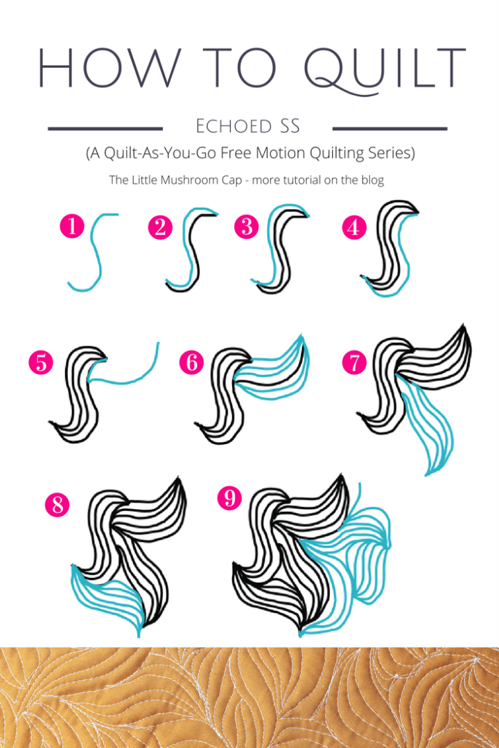 How to free motion quilt echoed SS motif