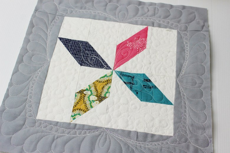 Free Motion Quilting on Block Clay's Choice | Sewcial Bee Sampler