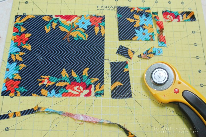Always trim away you scrap fabric to have straight edges - make it simpler for next project