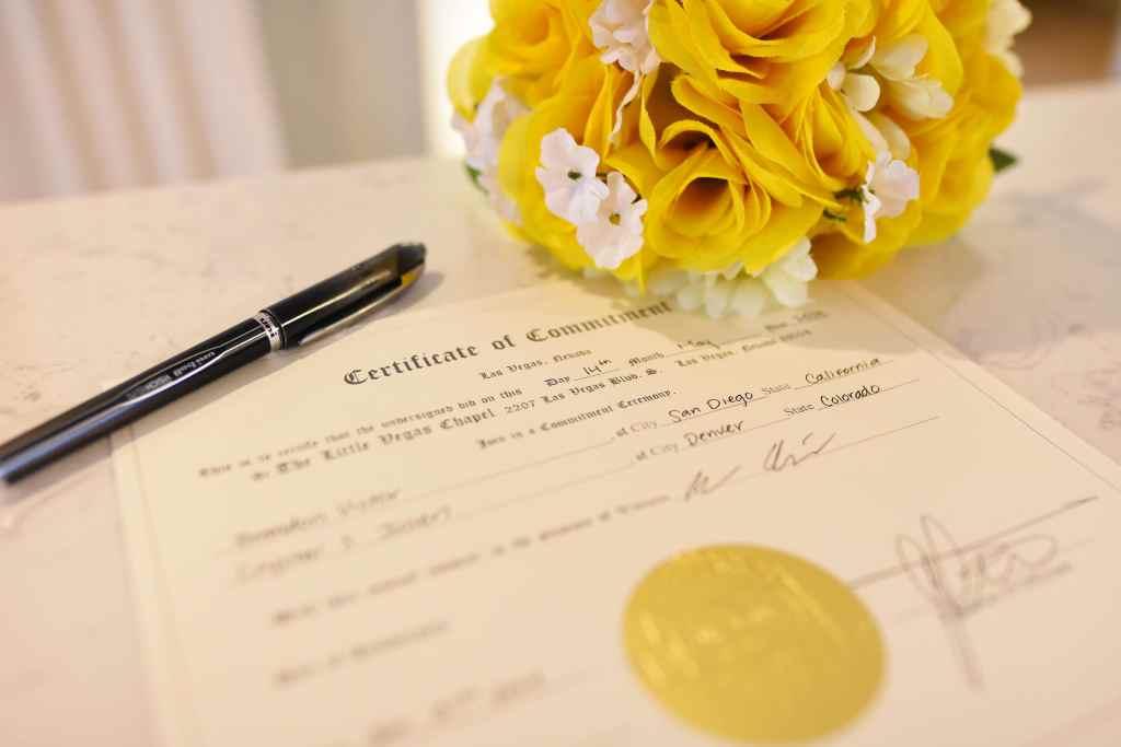 Pretend marriage license