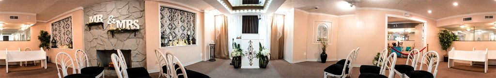 Panoramic photo of The Little Vegas Chapel