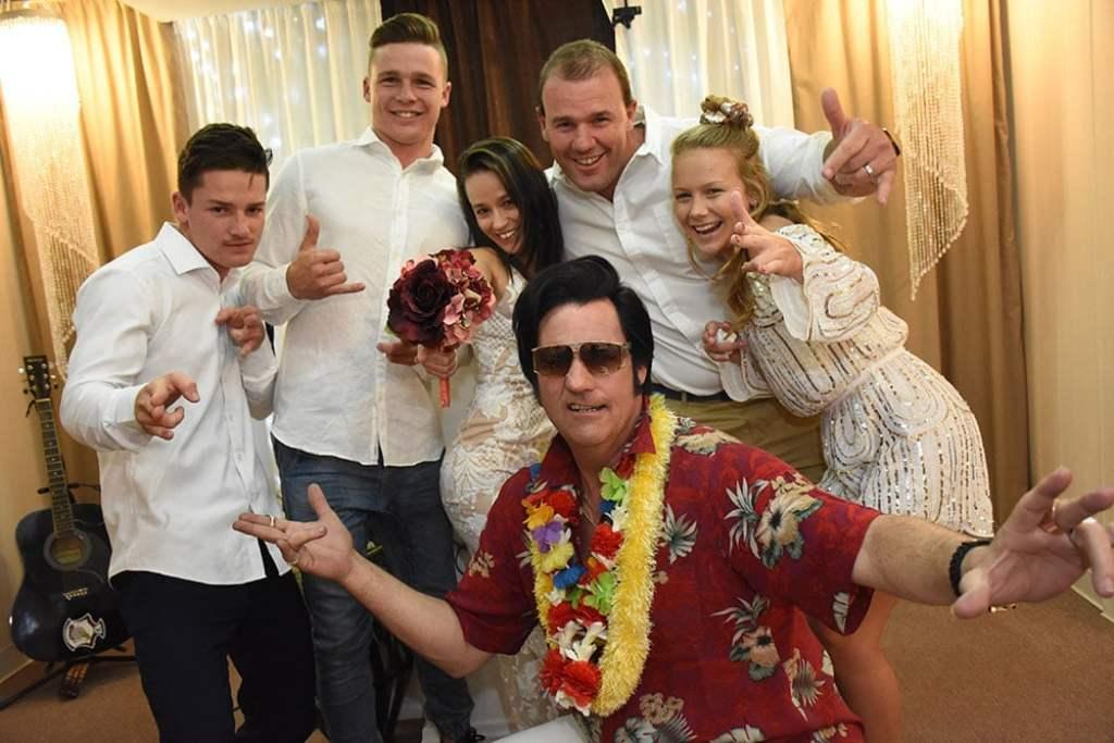 Fun Elvis Wedding With Friends