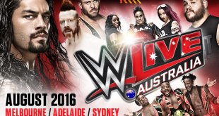 WWE Australia Tour 2016 Live Matches Date And Time In India, Poster