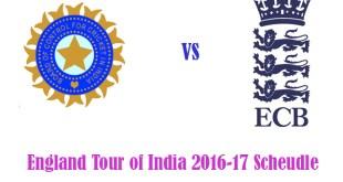 India Vs England Test, ODI, T20 Schedule 2016-17 Venues