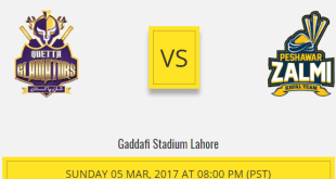 PSL Lahore Final Live 2017 Pakistan Super League