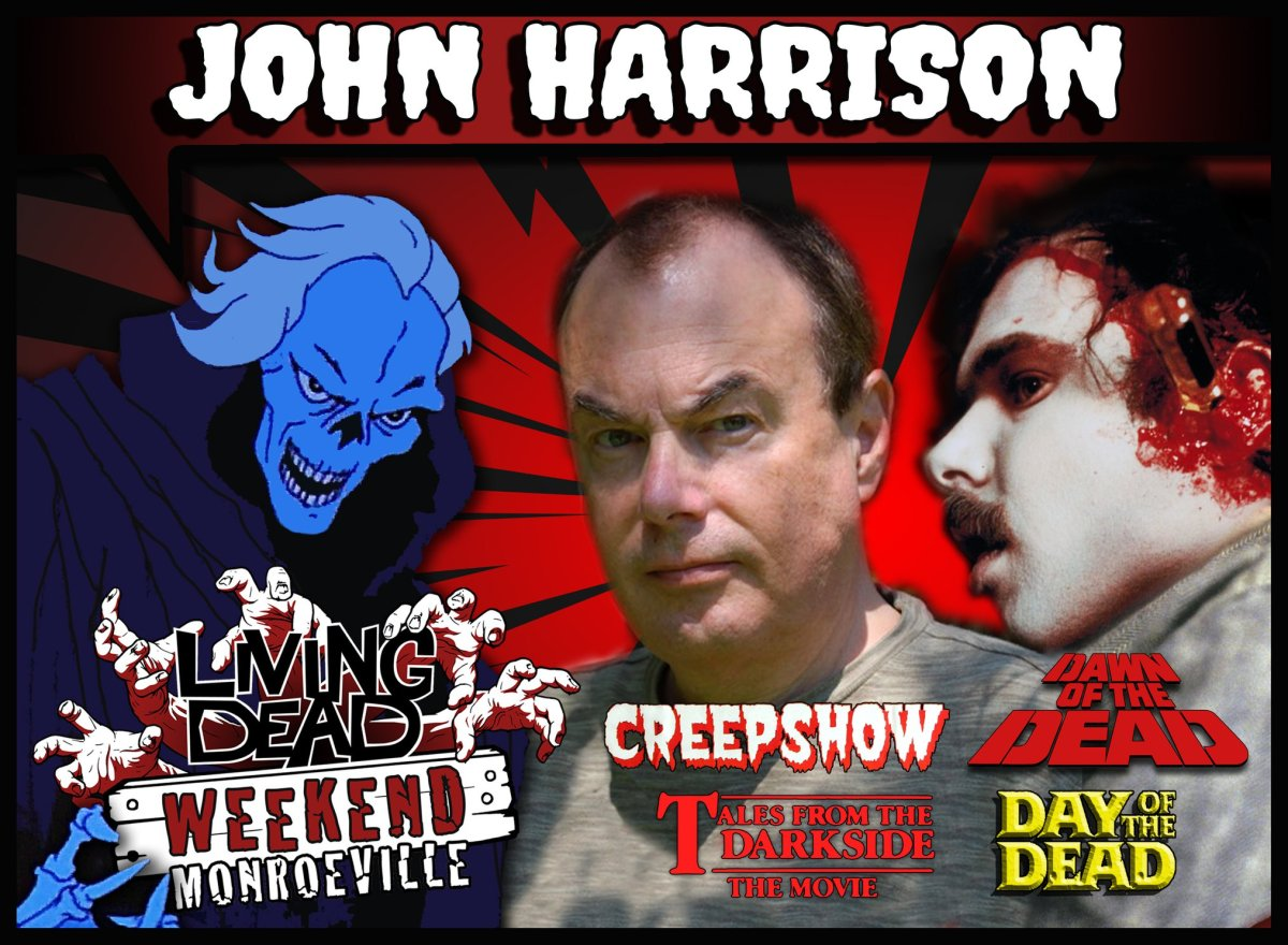 John Harrison Dawn of the Dead Screwdriver Zombie Creepshow and Day of the Dead Soundtrack Tales From The Darkside Living Dead Weekend Guest in the Monroeville Mall Pittsburgh PA Zombie Capital of the WORLD