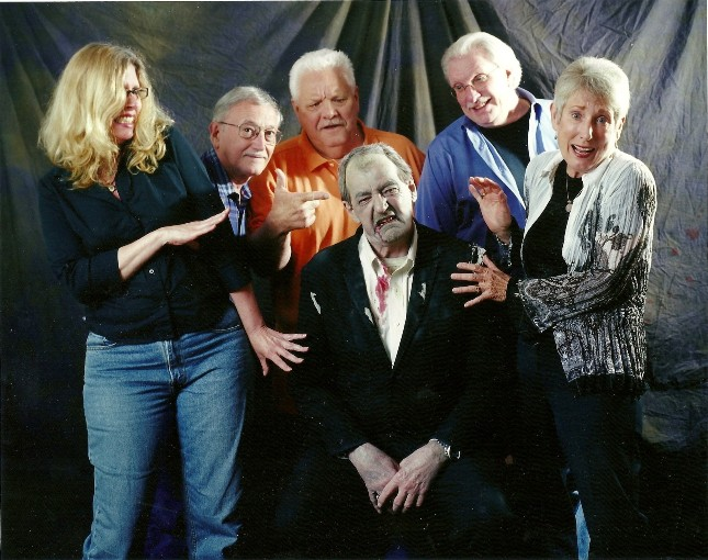 Some of the Cast from George Romero's NIGHT OF THE LIVING DEAD. Kyra Schon, John Russo, George Kosana, Russ Streiner, Judith O'Dea and Bill Hinzman Zombie #1