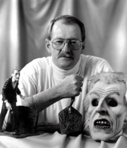 Bill Hinzman AKA Zombie Number 1 from Night of the Living Dead with the Trowel prop from the movie