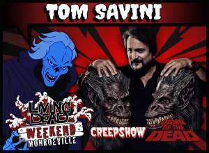 Tom Savini Night of the Living Dead 1990 Director Special FX effects master and Stuntman for Dawn of the Dead the king of Splatter on Day of the Dead Wizard of Gore on Creepshow and Martin joins the living dead weekend two annual reunion events in Pittsburgh, PA the Zombie Capital of the WORLD