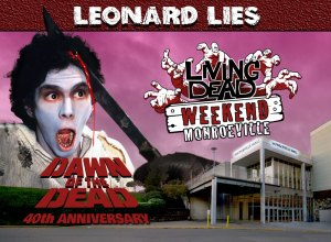 Living Dead Weekend Monroeville Mall June 8-10 2018 Leonard Lies George Romero Dawn of the Dead Machete Zombie