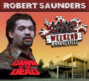 "Our next zombie guest played a significant role by first biting Roger, he started the chain of events that would lead to the downfall of our heroes. Robert ""Banjo"" Saunders who was one of the B&P Truck zombies is joining our reunion for Saturday and Sunday."