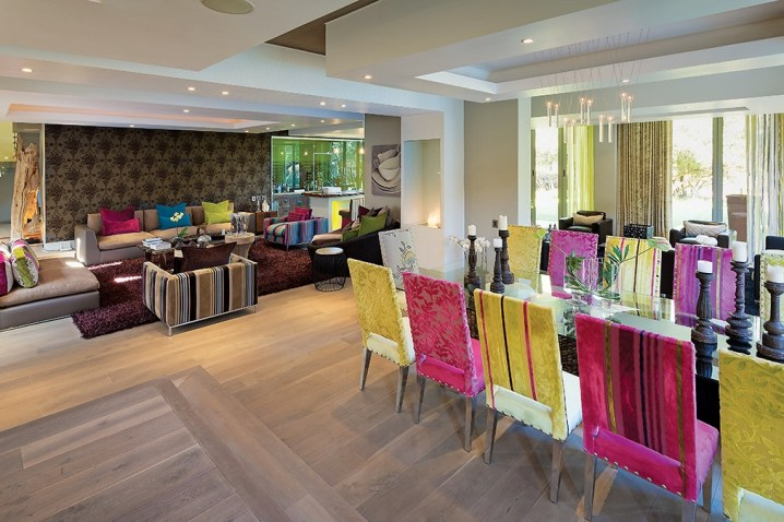 A 12-seater dining room is central to the entertainment area with the kitchen and outdoor poolside patio only metres distant.