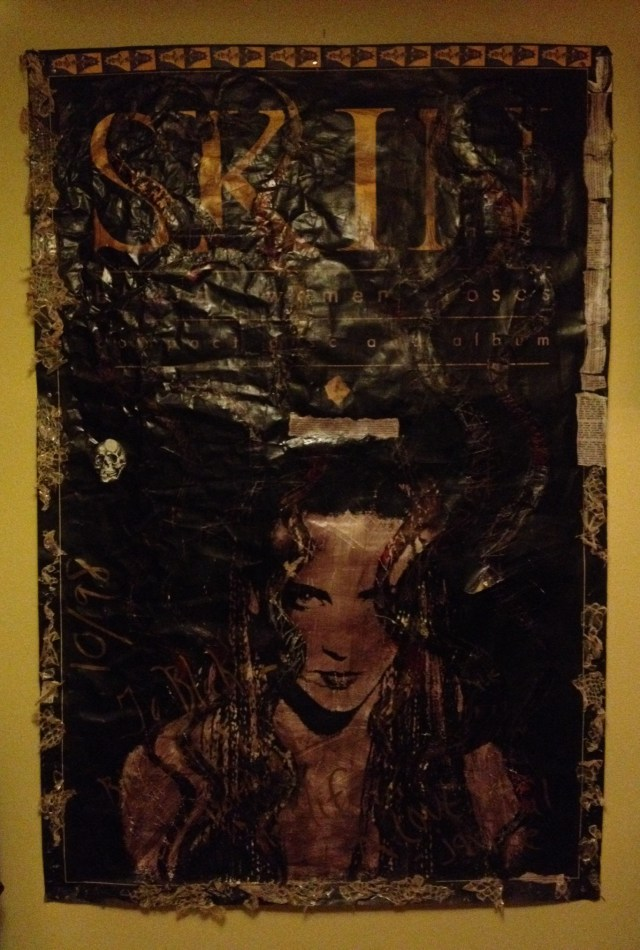 Blood Women Roses poster decorated with snakeskin from the 1000 Years video