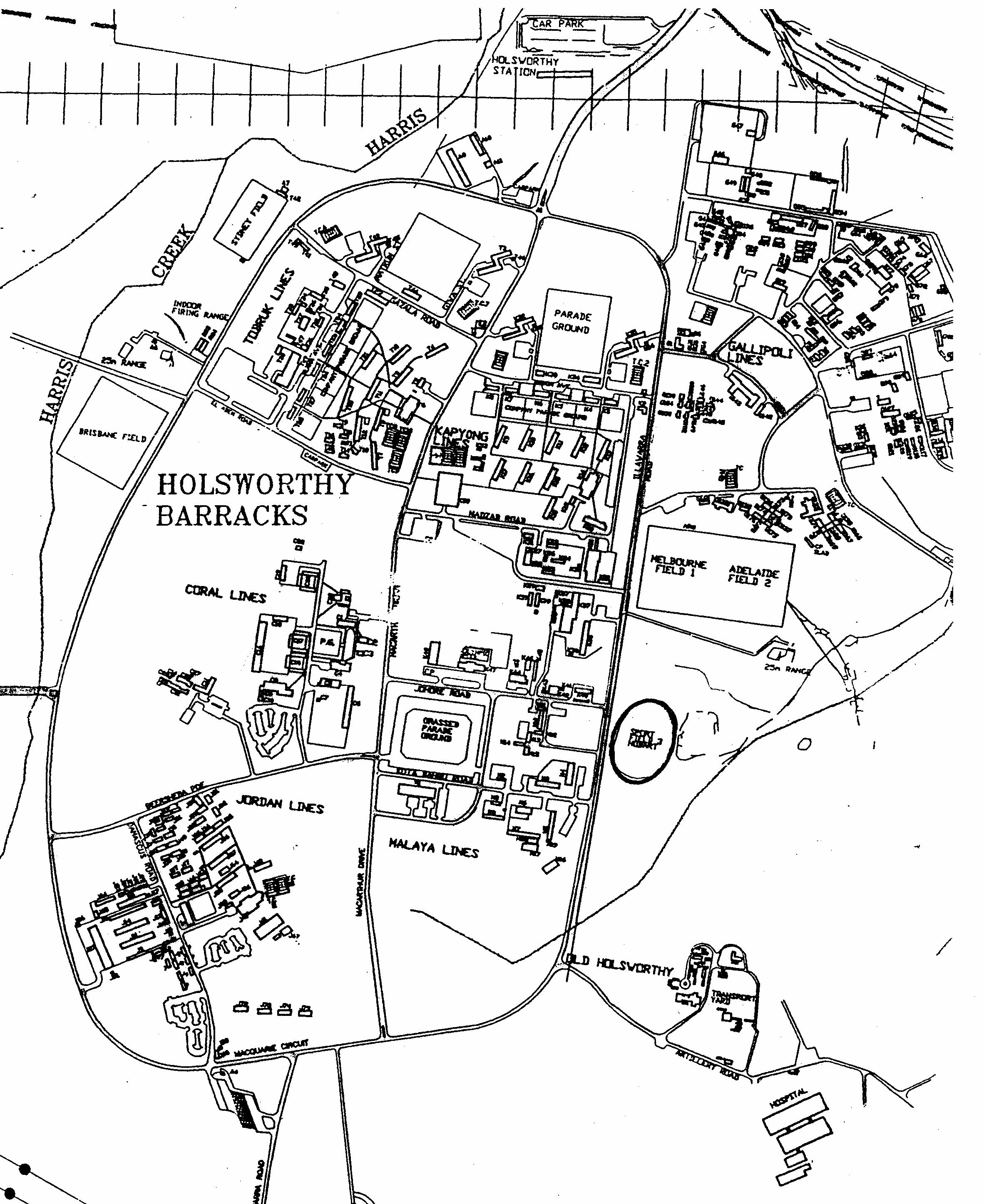 Holsworthy Barracks And Antenna Array