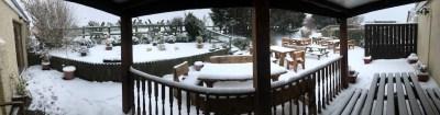 Beer Garden in Winter