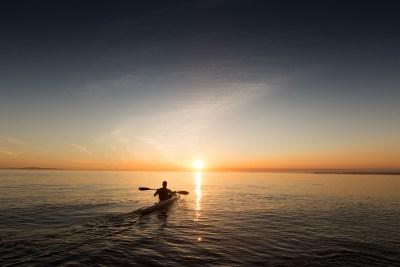 Kayaking around the Pembrokeshire Coast