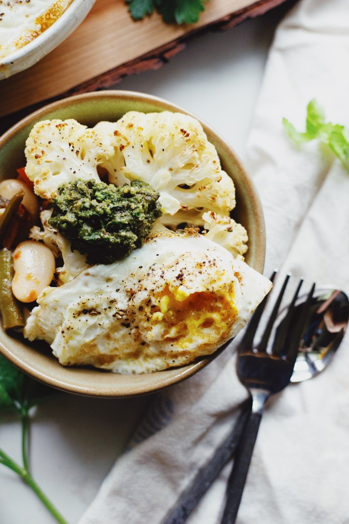 The Local Sprout gluten free and Vegan Food Blog. Butter Bean Stew with Cauliflower Steaks