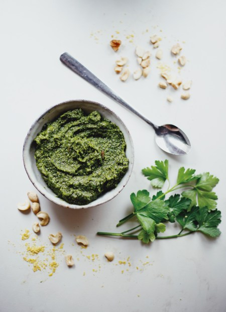 Healthy Basil & Parsley Vegan Pesto