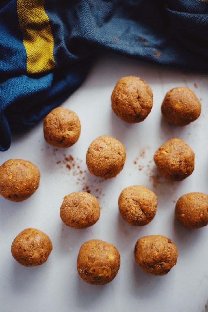 gluten and grain free sweet potato balls made with cassava flour