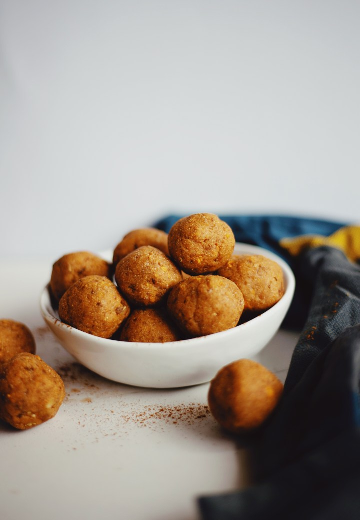 Cassava flour sweet potato snack balls recipe on The Local Sprout food blog