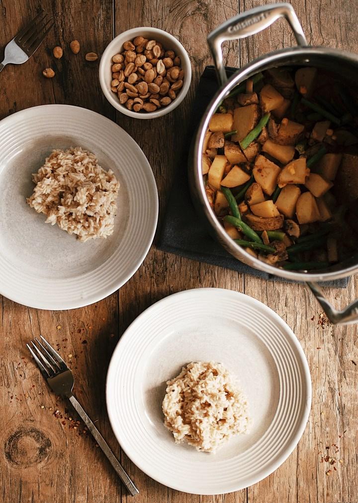 peanut curry vegan