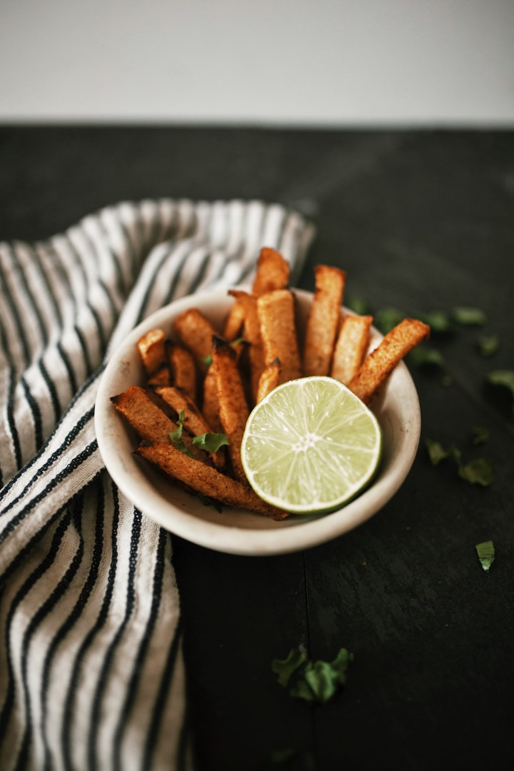 easy baked jicama fries