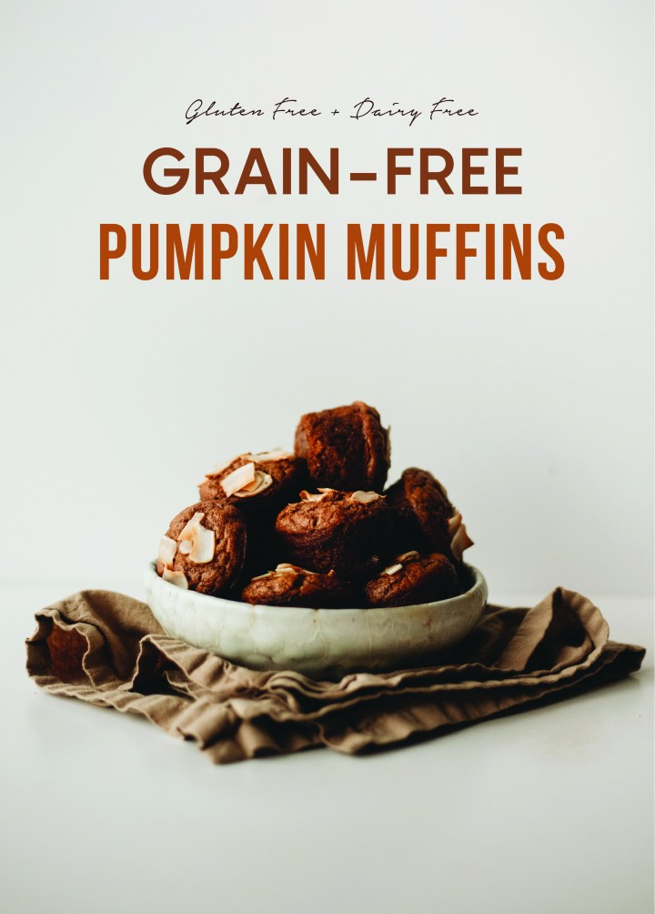 Healthy grain free pumpkin muffins recipe