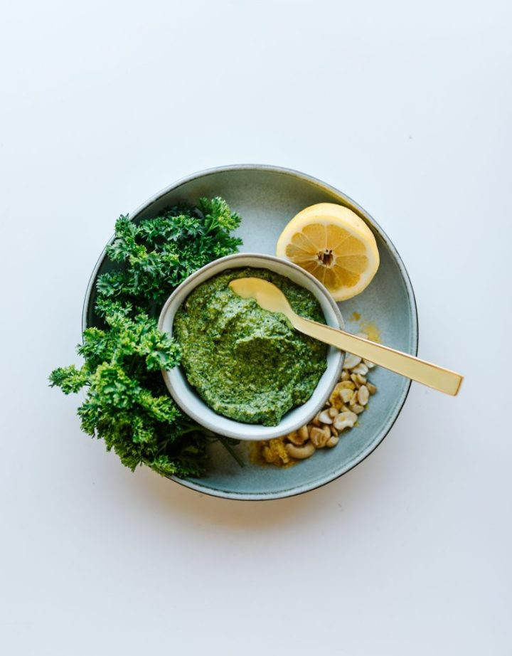 Healthy Carrot top pesto recipe
