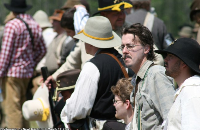 Reenactor Brian Walker. Photograph by Newt Rayburn © March 31, 2012